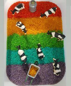 Ja, det kan svine lidt. Men det er ret sjovt at lege med ris. Foto: Privat