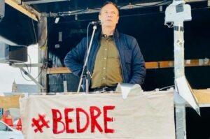 Det handler måske om ligestilling, jeg ved det ikke. Men jeg har svært ved at se fordelen for børnene, sagde Ole Henrik Hansen blandt andet i sin tale ved demonstrationen for bedre barselsforhold.